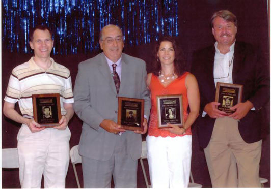 David, Joe Cacciatore, Nancy Kerrigan, Bruce McAndrews, 2007 Bay State Games Hall of Fame induction ceremony